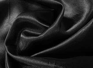 Ткань креп- сатин черный