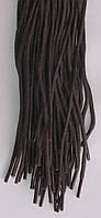 Шнурки темно коричневые круглые пропитанные тонкие 70см