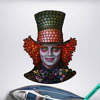 Термонаклейки на челочно-носочные изделия Шляпник из к\ф Алиса в стране чудес [7 размеров в ассортименте]