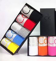 Набор мужских трусов в стиле Calvin Klein (5 шт) в фирменой подарочной упаковке черного цвета