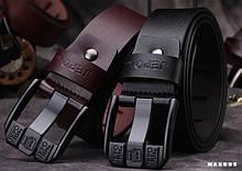 Ремень мужской кожаный jepo/ цвета: черный и коричневый