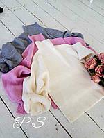 Стильный женский свитер (мягкая машинная вязка, длинные объемные рукава, манжеты, ворот гольф) РАЗНЫЕ ЦВЕТА!