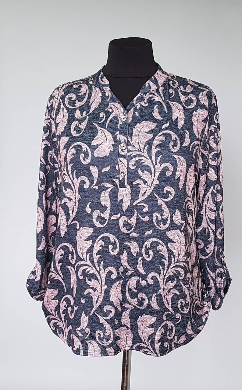 Блуза женская большого размера с вензелями