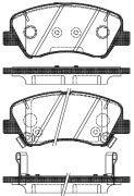 Тормозные колодки передние  ROADHOUSE RH 21488.02