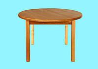 Стол деревянный  c круглой столешницей
