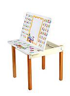Детский стол с мольбертом Абетка