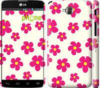 "Чехол на LG G Pro Lite Dual D686 Розовые цветки ""4018c-440-4074"""