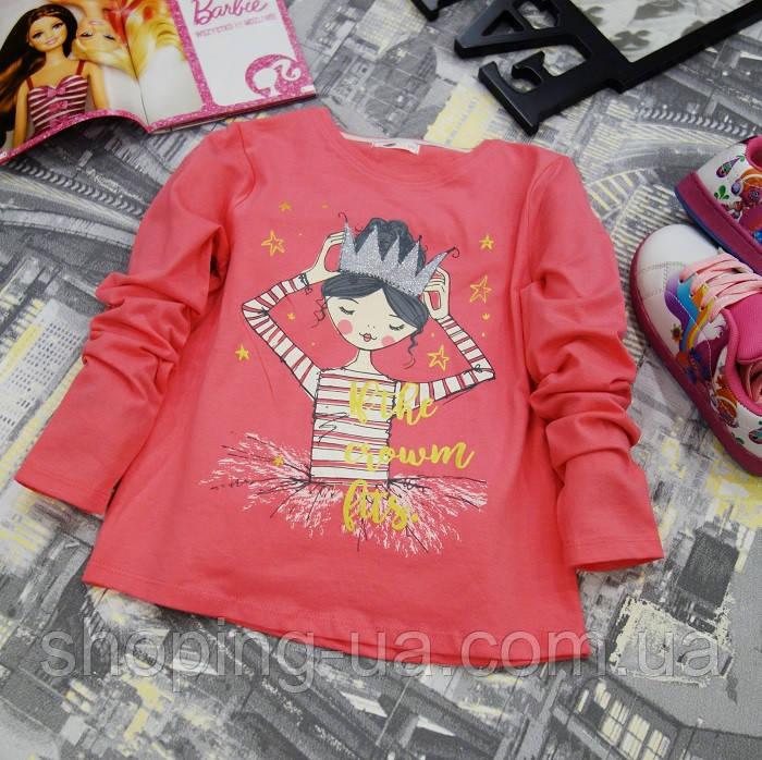 Кофточка розовая девочка с короной KD0031-122p