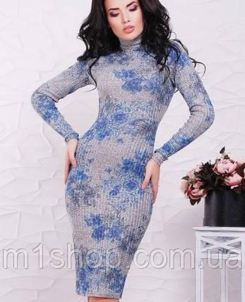 Женское облегающее трикотажное платье (Tiffany fup), фото 2