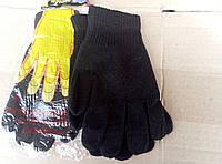 Черные женские теплые перчатки