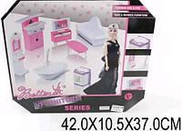 Мебель 66842 с куклой шарнир,ванна,стир.маш,зерк,ТВ-тумба,диван... в кор.42