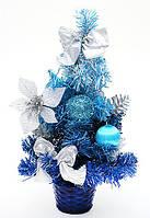 Декоративная елка в горшке, 20 см (голубой)