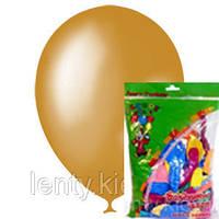"""Шарии 12""""(30см) GOLD Металлик в упаковках по 100 шт. без рисунка"""