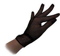 Перчатки Гламур короткие (черные)