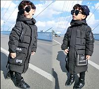 Детская длинная стильная зимняя парка НВА