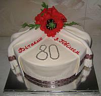 Торт на 80 лет в украинском стиле