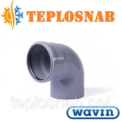 Колено канализационное WAVIN 50/45°