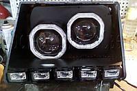 """Таврия - установка двух биксеноновых линз Morimoto G5 2,5"""" (⌀64мм) H1 в одну фару"""