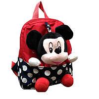 Рюкзак детский дошкольный со съемной игрушкой Микки Маус GS1400