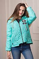 Демисезонная женская куртка Gloss мятного цвета  БЕСПЛАТНАЯ ДОСТАВКА!!!
