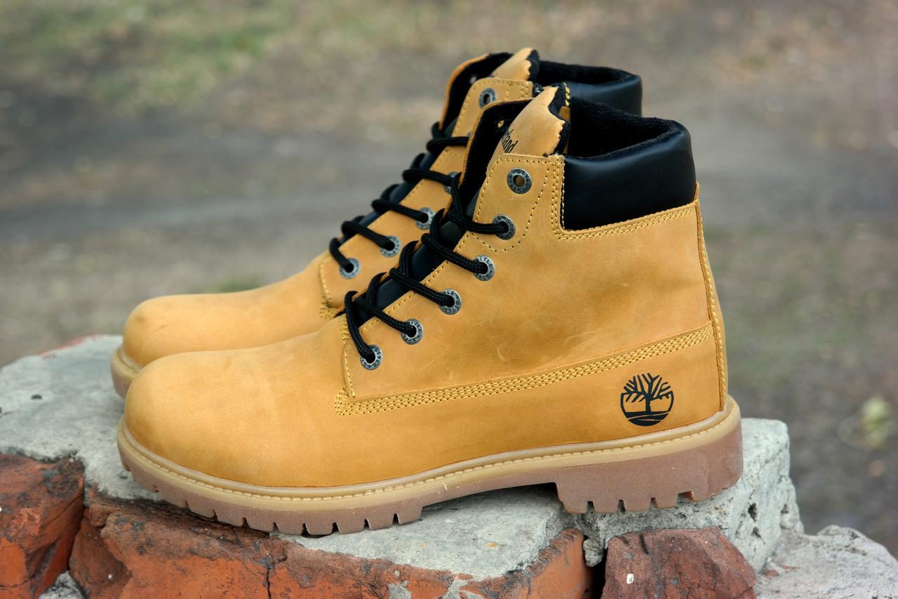 ee0c8b286 Кожаные зимние мужские ботинки в стиле Timberland 4 цвета , натуральный  нубук Гарантия качества, ...