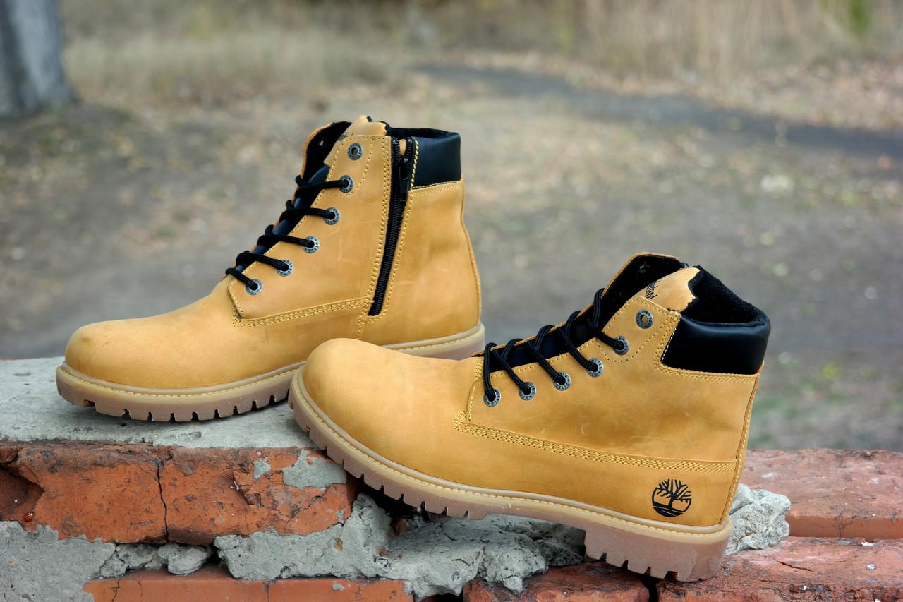 0b1f7d5b8 ... фото Кожаные зимние мужские ботинки в стиле Timberland 4 цвета , натуральный  нубук Гарантия качества, ...