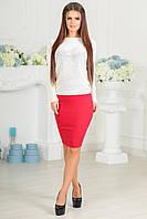 Женская красная юбка