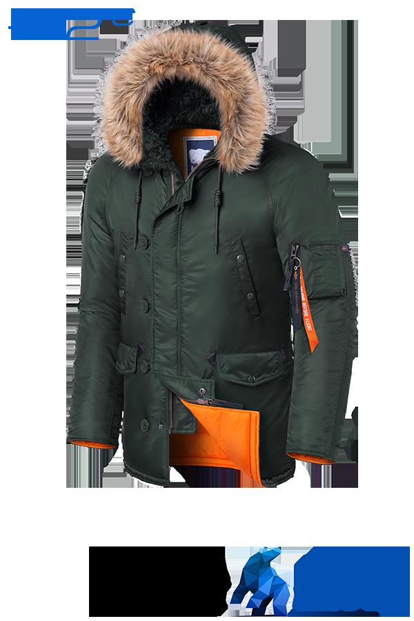 Мужская зимняя теплая куртка Braggart Arctic - 22 градусов р.  50