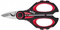 Ножницы электрика из нержавеющей стали, кабелерез с функцией опрессовки кабелей, Wiha 41923