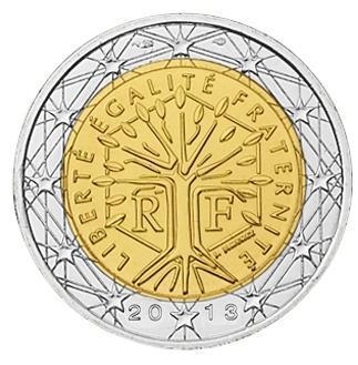 2 євро 2012 Франція. UNC