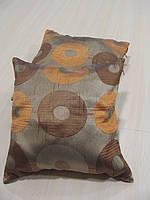 Комплект подушек 3шт оранж и коричневые  Диско 30х30см