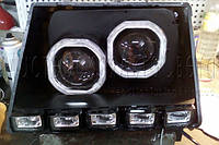 "Таврия - установка двух биксеноновых линз 2,5"" дюйма в одну фару"