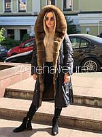 Куртка парка из натурального меха зимняя