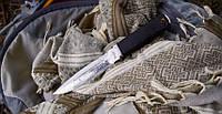Нож нескладной Флагман, для охоты и туризма с кожаным чехлом в комплекте