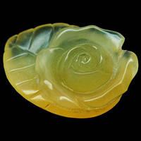 20.89 кт Природный желтый опал Мексика. Резная роза,ручная работа