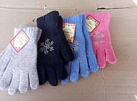 Качественные теплые перчатки девочка