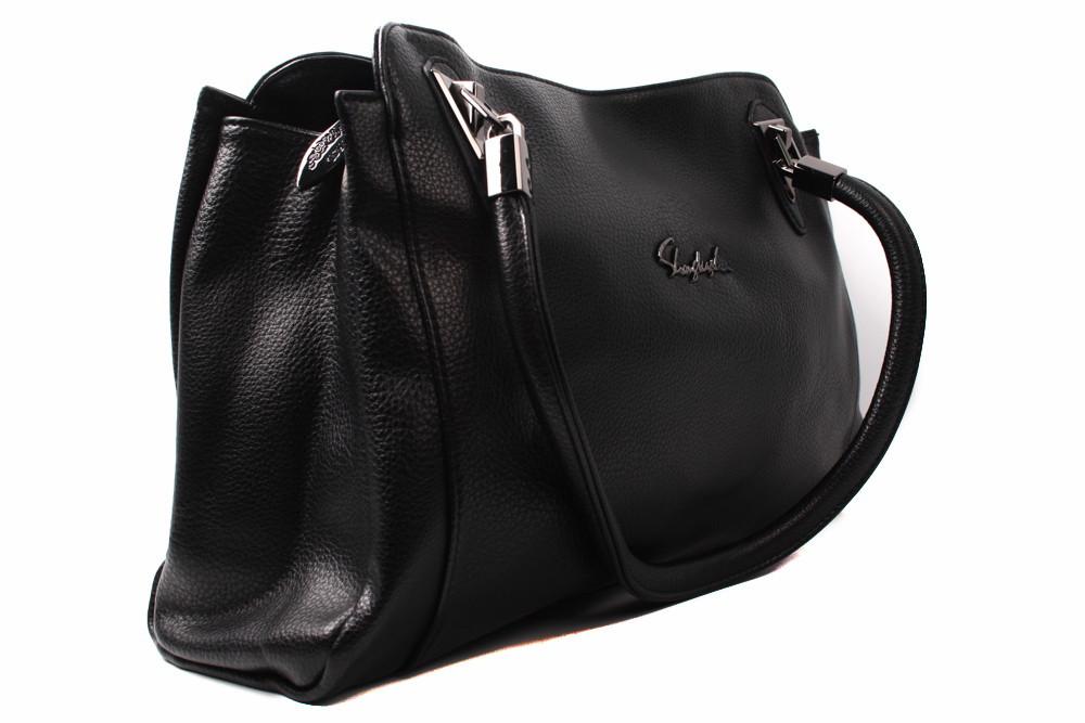 Сумка ShegKasiLu эко-кожа, цвет черный, размер большой, прямоугольная форма
