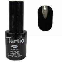 Гель-лак Tertio №012 Черная эмаль 10 мл