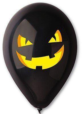 Воздушный шар тыква черная 30 см диаметр