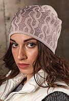 "Шапка вязаная женская шерстяная ""Восток"" антрацит-2, 903621, фото 1"