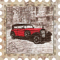 """Набор для вышивания нитками """"Автомобиль"""" на фоновой канве, с рамочкой в компл., р 24*24см"""