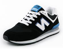 Кроссовки черно-синие в стиле New Balance 520
