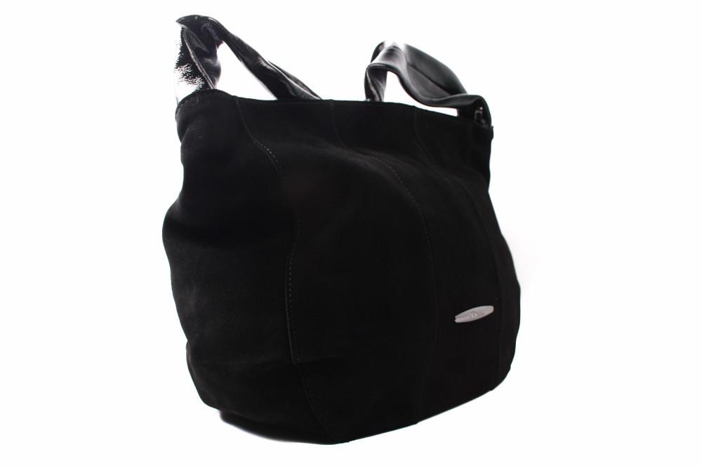 Сумка B.Oalengi эко-замш, цвет черный, размер большой, квадратная форма