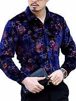 Мужские рубашки из бархатной ткани