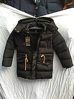 Пальто мальчиковый на меху 8-12 лет 4342