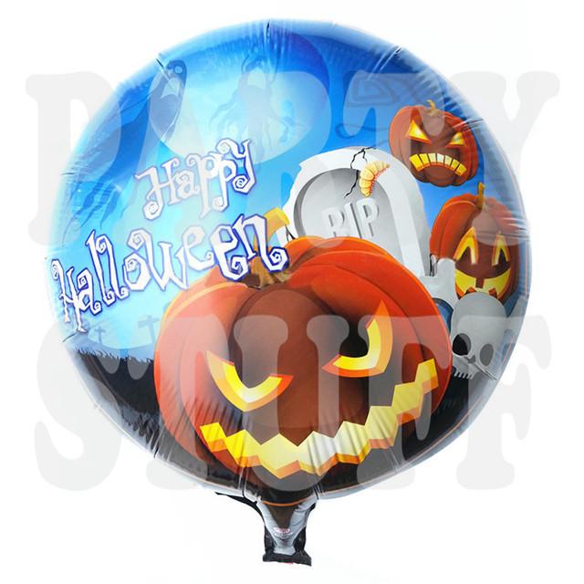 фольгированный шарик happy halloween