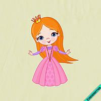 Наклейки на челочно-носочные изделия Принцесса [7 размеров в ассортименте]
