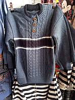 Мальчиковый теплый свитер в полоску