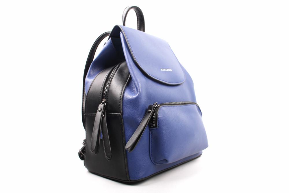 Рюкзак B.Oalengi эко-кожа, цвет синий, размер средний, прямоугольная форма
