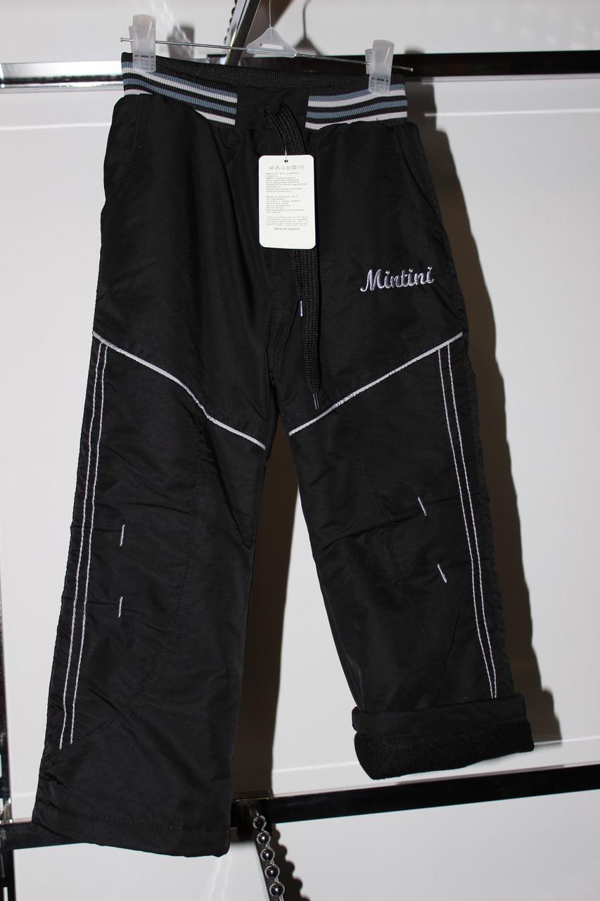 Утепленные брюки для мальчика Плащевка на флисе 4 года